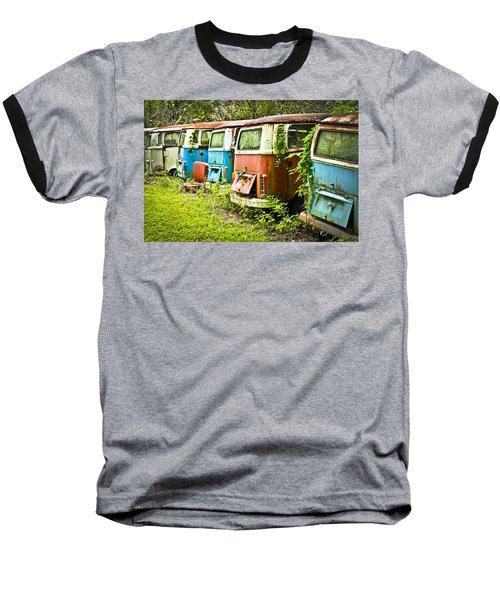 Vw Buses Baseball T-Shirt by Carolyn Marshall