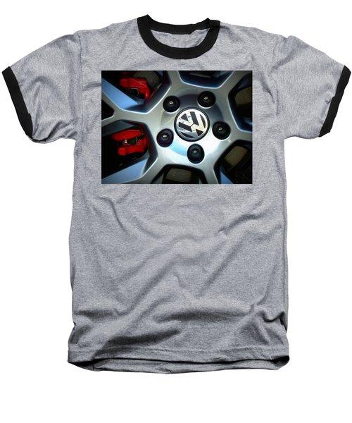 Vw Gti Wheel Baseball T-Shirt by Joseph Skompski
