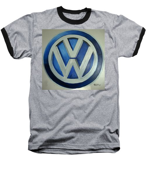 Vw Logo Blue Baseball T-Shirt