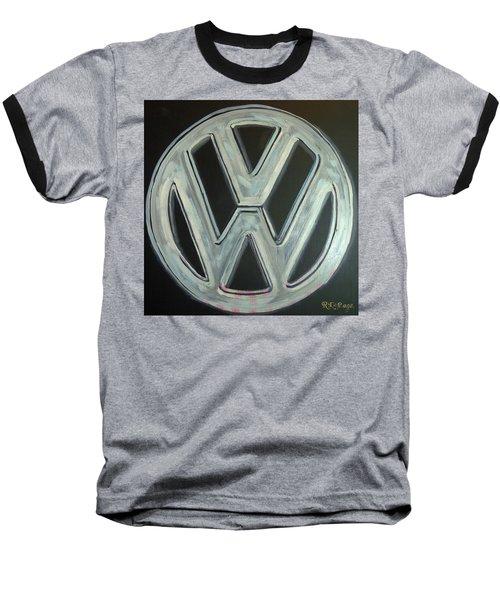 Vw Logo Chrome Baseball T-Shirt