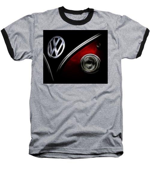 Vw Micro Bus Logo Baseball T-Shirt by Steve McKinzie