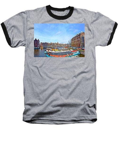 Waalseilandgracht Amsterdam Baseball T-Shirt