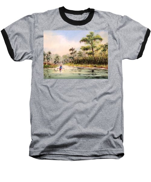 Wacissa River  Baseball T-Shirt by Bill Holkham