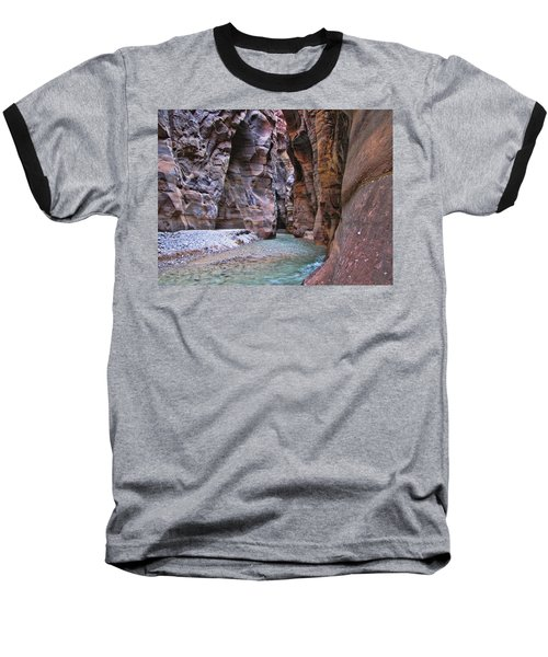 Wadi Mujib Baseball T-Shirt by David Gleeson