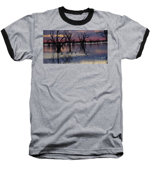 Wading The Shallows Baseball T-Shirt