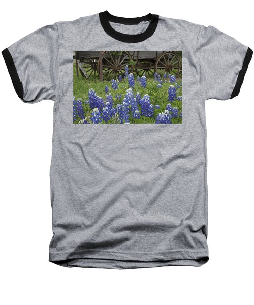 Wagon With Bluebonnets Baseball T-Shirt