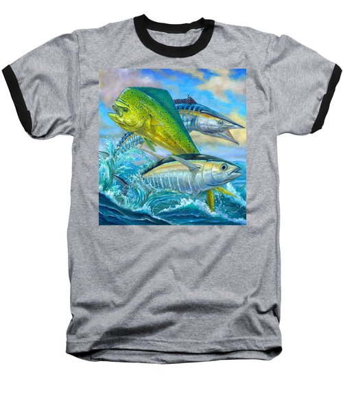 Wahoo Mahi Mahi And Tuna Baseball T-Shirt