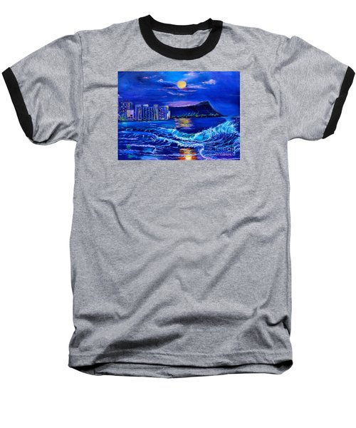 Waikiki Lights Baseball T-Shirt