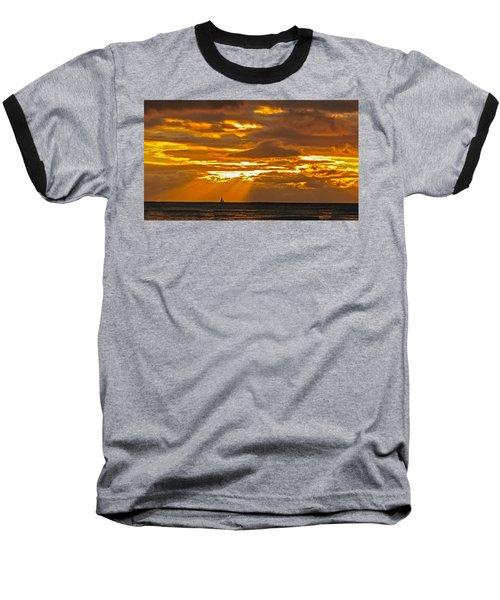 Waikiki Sun Set Baseball T-Shirt