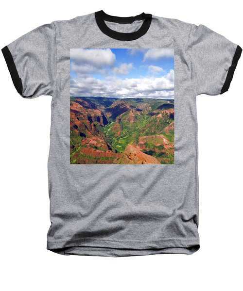 Waimea Canyon Baseball T-Shirt by Amy McDaniel