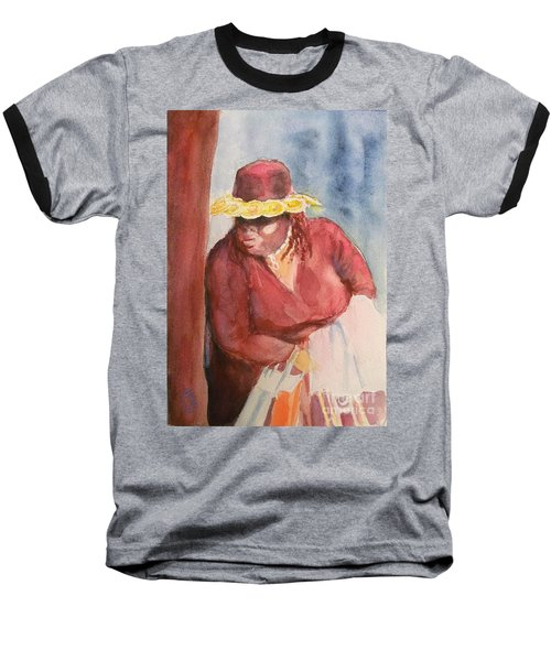 Waiting 1 Baseball T-Shirt by Yoshiko Mishina