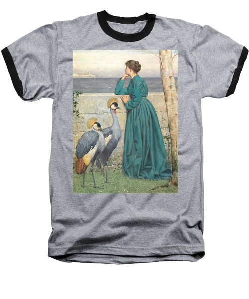 Waiting And Watching Baseball T-Shirt by Henry Stacey Marks