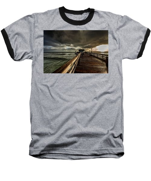 Waiting For Breakfast Baseball T-Shirt by Steven Reed