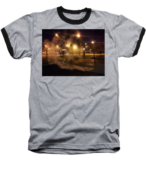 Waiting For The Bus Baseball T-Shirt