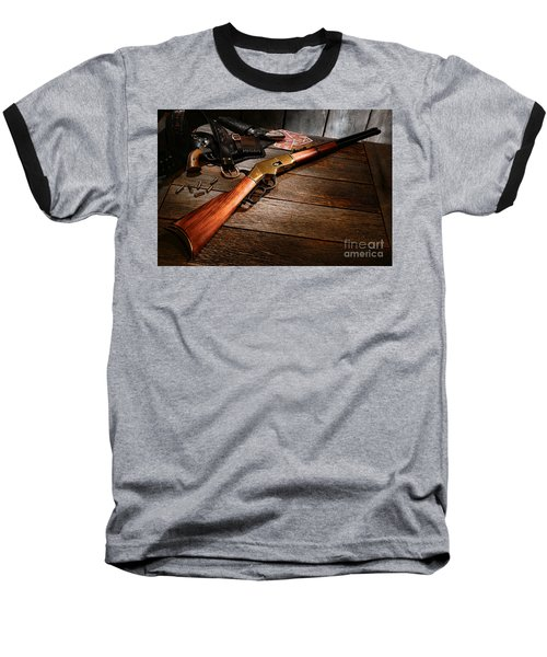 Waiting For The Gunfight Baseball T-Shirt