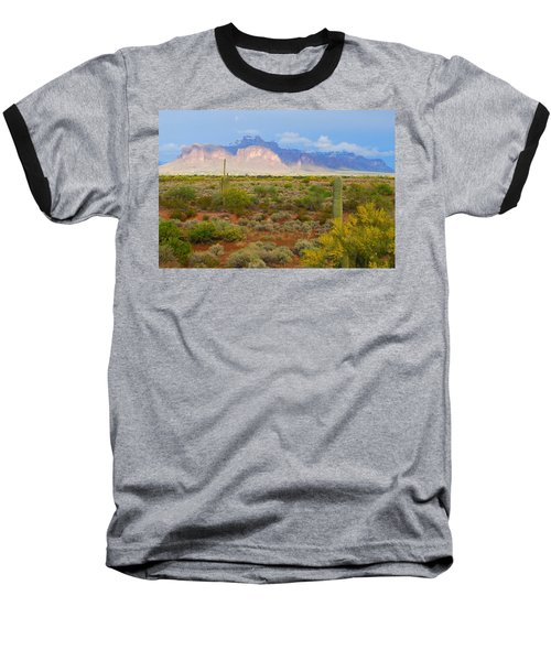 Baseball T-Shirt featuring the photograph 16x20 Canvas - Superstition Mountain Light by Tam Ryan