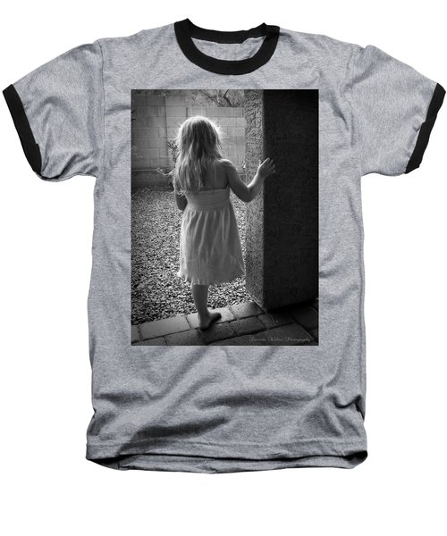 Baseball T-Shirt featuring the photograph Waiting For The Rain To End  by Lucinda Walter
