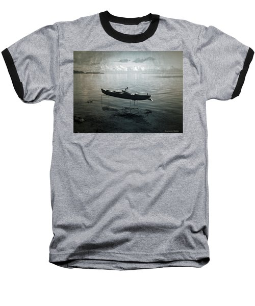 Baseball T-Shirt featuring the photograph Waiting In Blue by Lucinda Walter