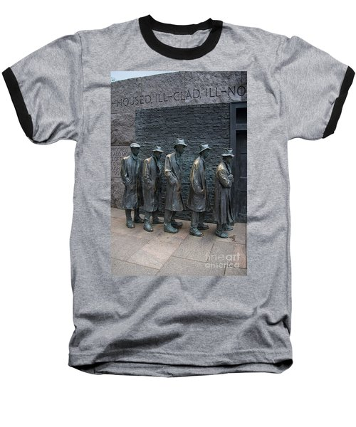Waiting In Line Baseball T-Shirt by Carol Ailles