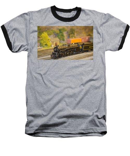 Waiting Model Train  Baseball T-Shirt by Patrice Zinck