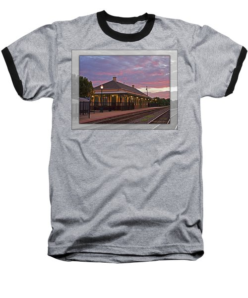 Waiting On The Train Baseball T-Shirt