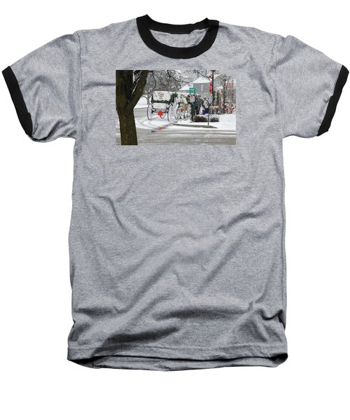 Waiting To Give A Ride Baseball T-Shirt by Janice Adomeit