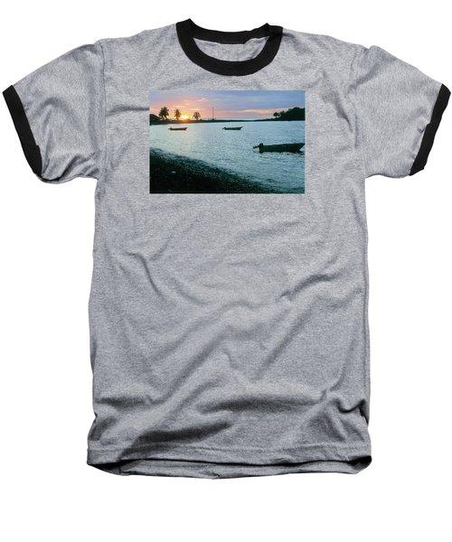 Waitukubuli Sunset Baseball T-Shirt