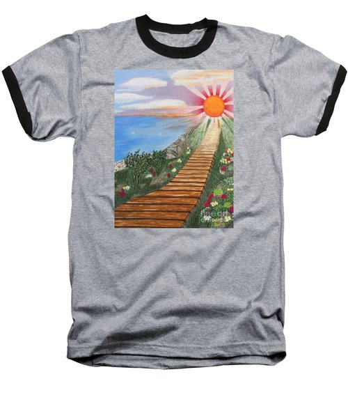 Baseball T-Shirt featuring the painting Waking Up Love by Cheryl Bailey