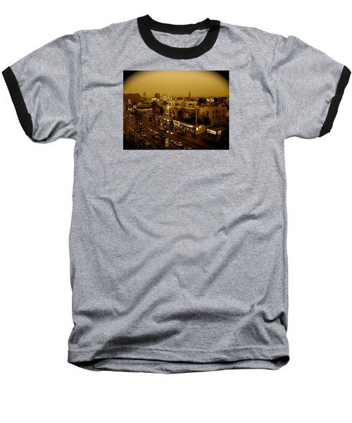 Walk Of Fame Hollywood In Sepia Baseball T-Shirt