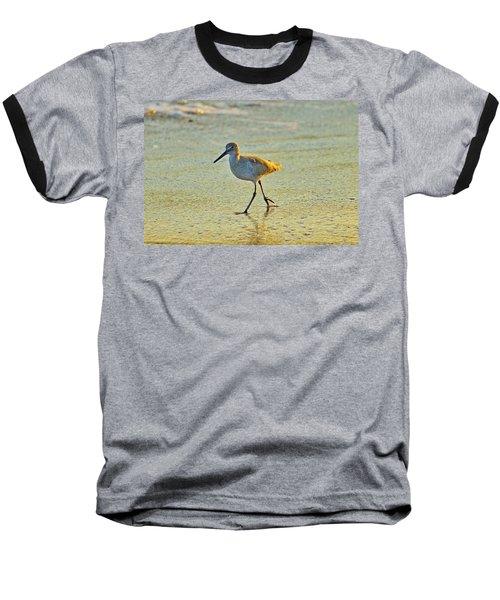 Baseball T-Shirt featuring the photograph Walk On The Beach by Cynthia Guinn