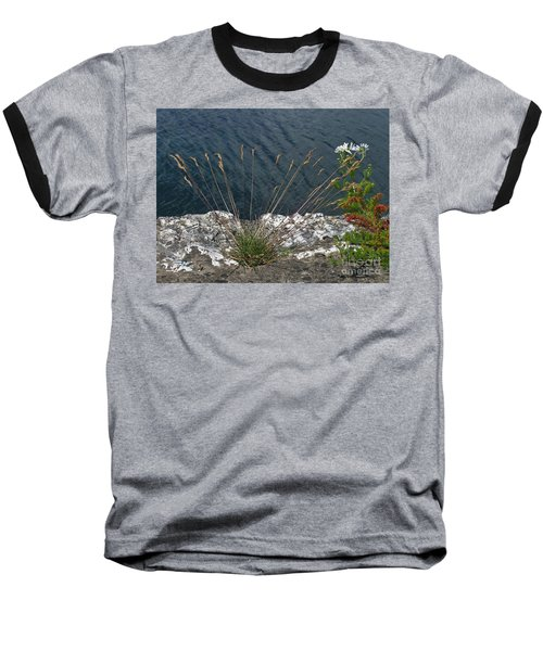 Baseball T-Shirt featuring the photograph Flowers In Rock by Brenda Brown