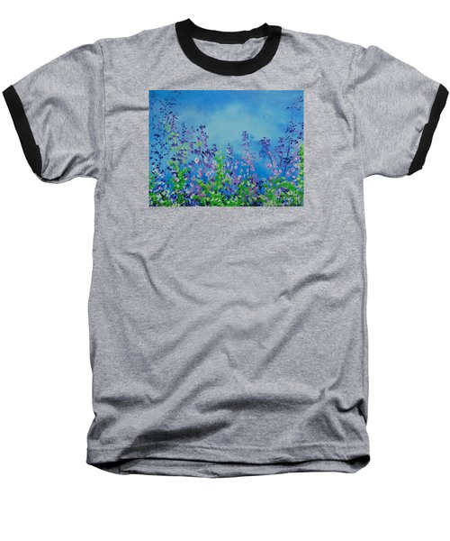 Walk Out Into The Fields Baseball T-Shirt by Dan Whittemore