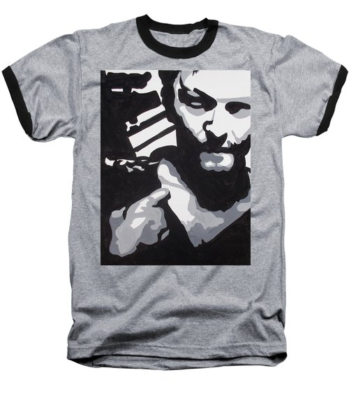 Walking Dead Daryl Close Baseball T-Shirt by Marisela Mungia