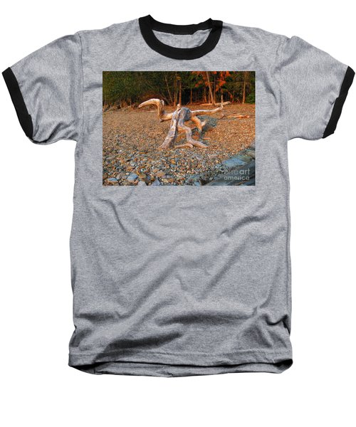 Walking On The Beach Baseball T-Shirt by Leone Lund