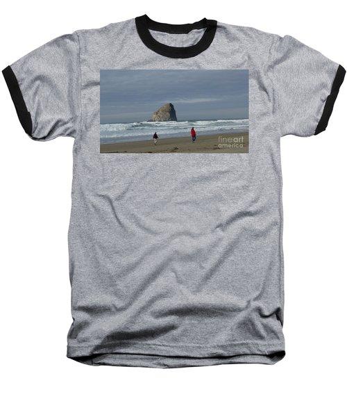 Walking On The Beach Baseball T-Shirt by Susan Garren