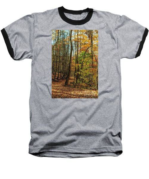 Baseball T-Shirt featuring the photograph Walking The Mountain Trail by Debbie Green