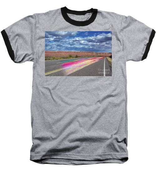 Baseball T-Shirt featuring the digital art Walking With God by Margie Chapman
