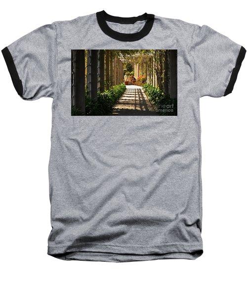 Walkway Baseball T-Shirt by Debby Pueschel
