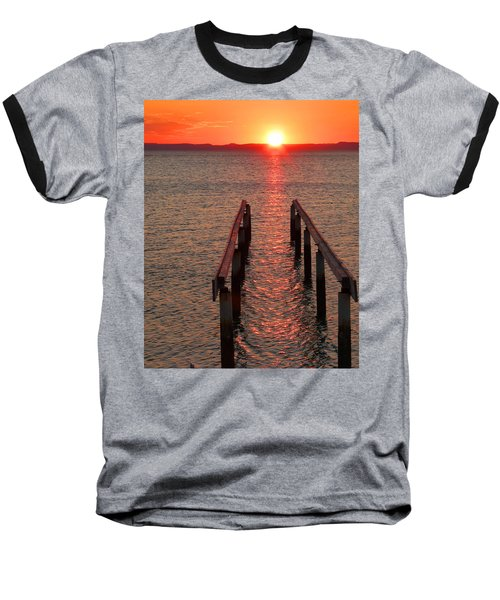 Baseball T-Shirt featuring the photograph Walkway To The Sun by Alan Socolik
