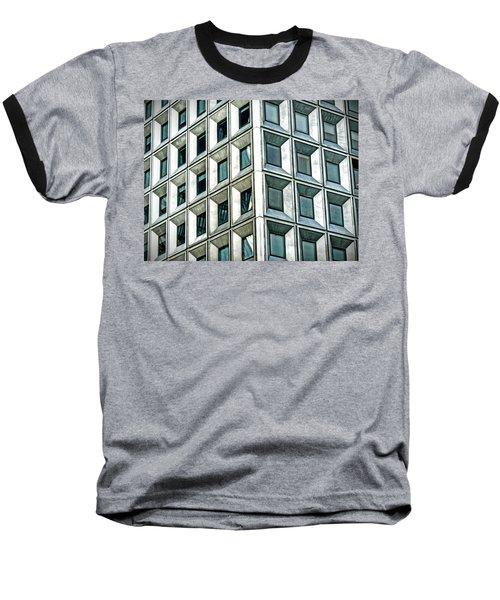Wall Street Building Baseball T-Shirt