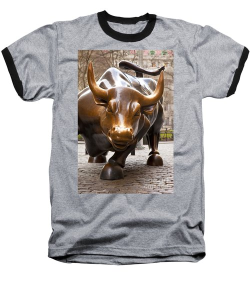 Wall Street Bull Baseball T-Shirt