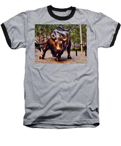Wall Street Bull Baseball T-Shirt