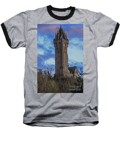 Wallace Monument During Sunset Baseball T-Shirt