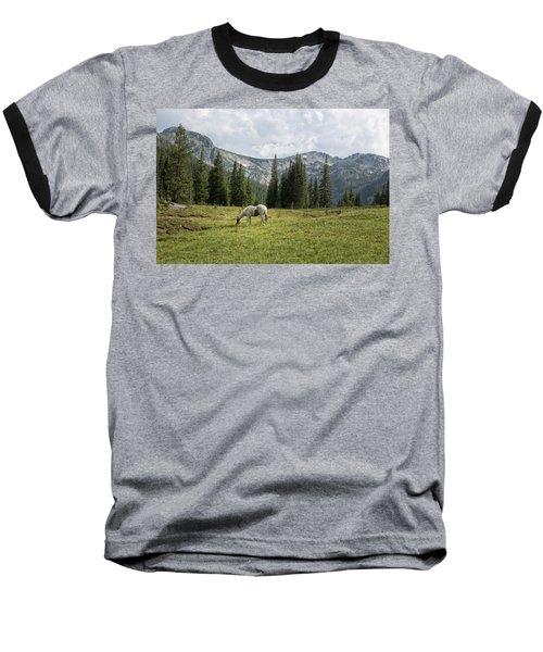 Wallowas - No. 2 Baseball T-Shirt by Belinda Greb