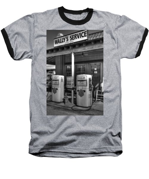 Wally's Service Station Baseball T-Shirt