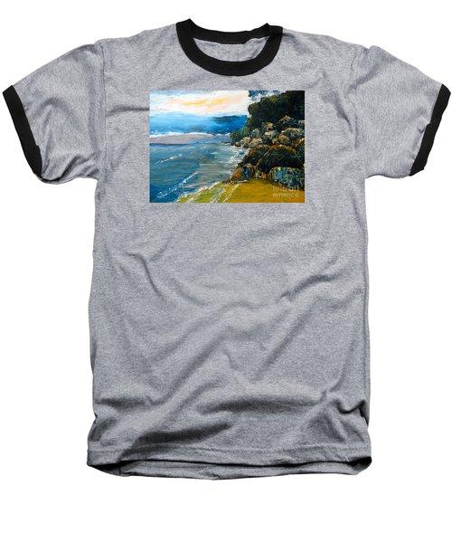 Walomwolla Beach Baseball T-Shirt by Pamela  Meredith