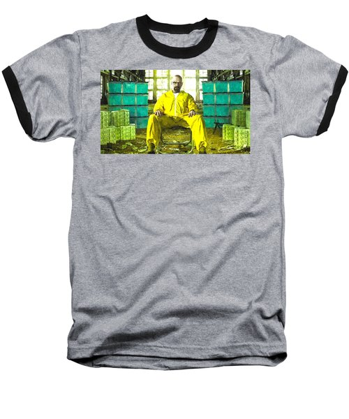 Walter White As Heisenberg Painting Baseball T-Shirt