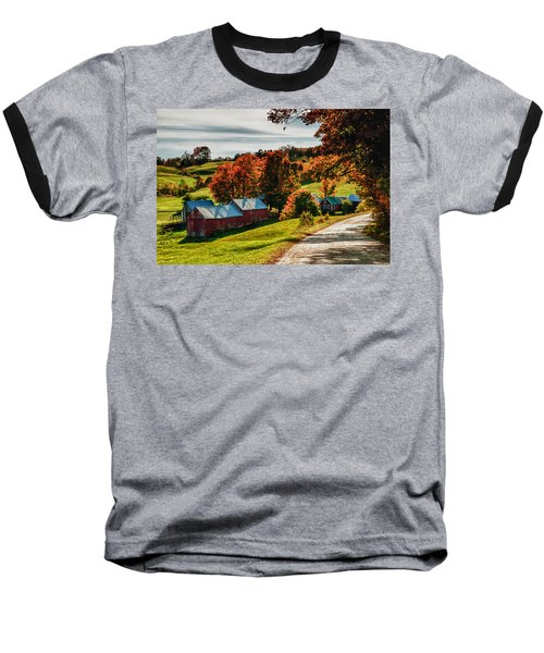 Wandering Down The Road Baseball T-Shirt by Jeff Folger