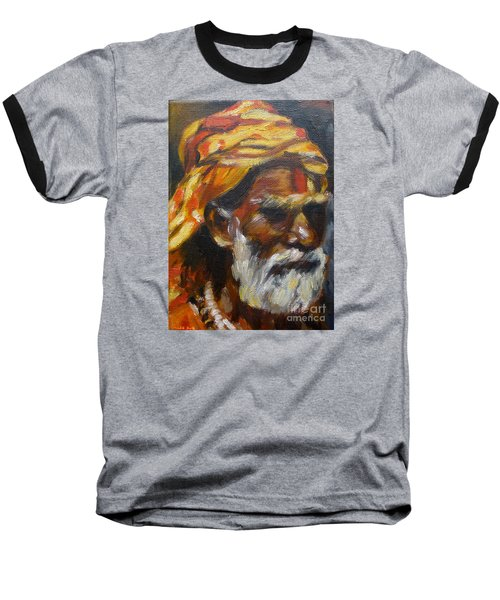 Baseball T-Shirt featuring the painting Wandering Sage Small by Mukta Gupta