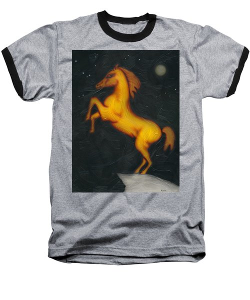 War Horse. Baseball T-Shirt by Kenneth Clarke